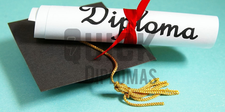 a replacement high school diploma with a hat