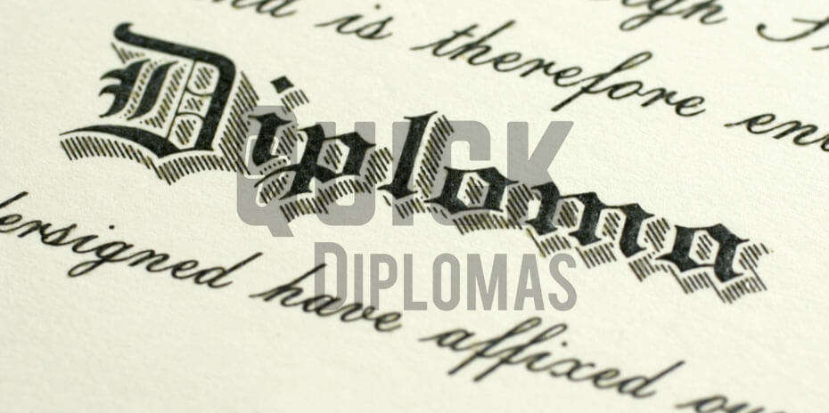 a clear look of one of diplomas after restoring vintage diplomas