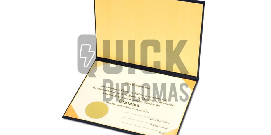 A sample diploma after restoring vintage diplomas