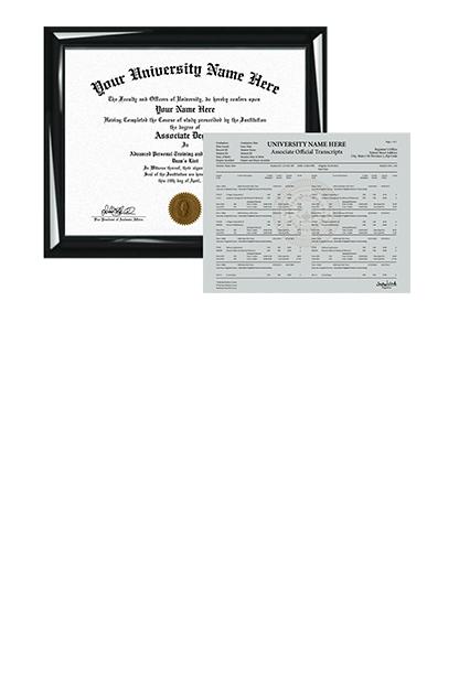 custom associate diplomas and degrees