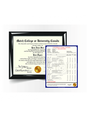 replacement canada college university diploma degree certificate with transcript mark sheet
