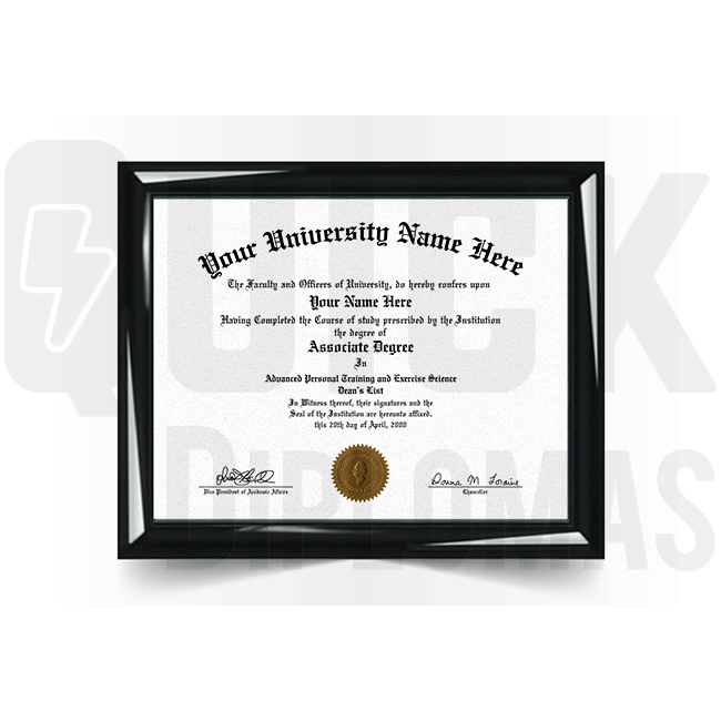 Realistic associate diploma replacement. Most templates! Best quality! Ships fast!