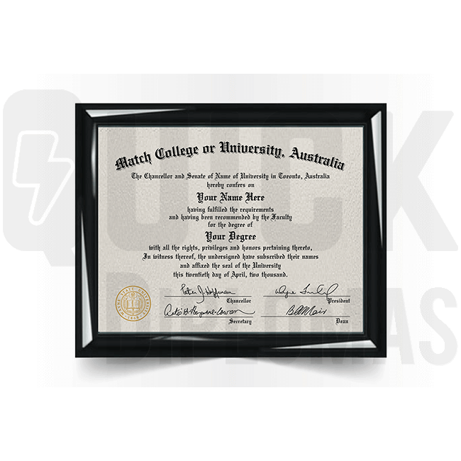 Get Australia diploma document! Matches layout & structure of real one! Amazing novelty prop!