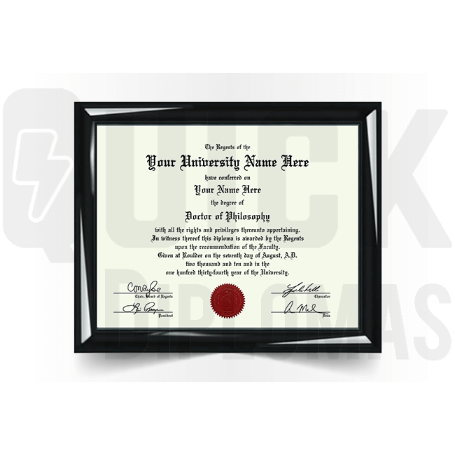 Realistic doctorate/phd diploma replacement. Most templates! Amazing quality! Fast shipping!