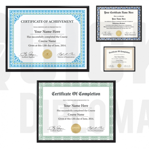 Certificates & Qualifications - Many Choices