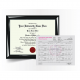 replacement phd doctorate diploma degree certificate with transcript score sheet