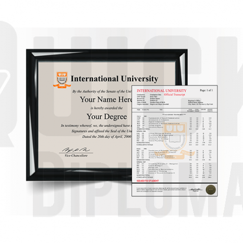 Get an international college set. Diploma and transcript package! Stunning Quality & Risk-Free Promise!