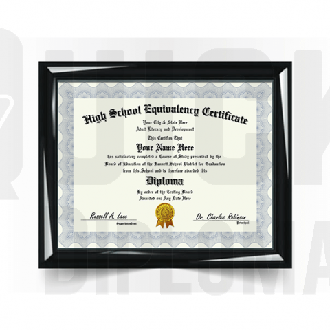 Amazing custom GED diploma! Great replacement alternative. Super realistic & risk-free guarantee!