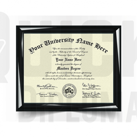 Realistic master diploma replacement. Most templates! Best quality! Ships quick!