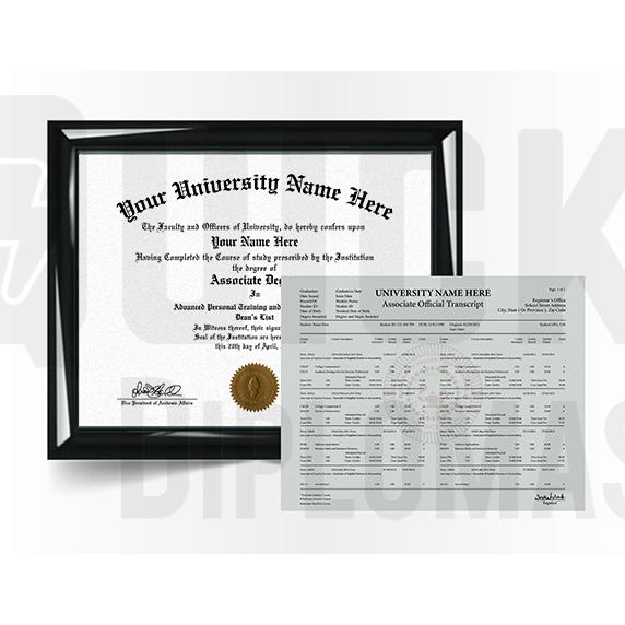 Associate Degree Diploma with Transcript