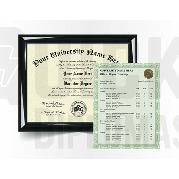 Bachelor Degree Diploma with Transcript