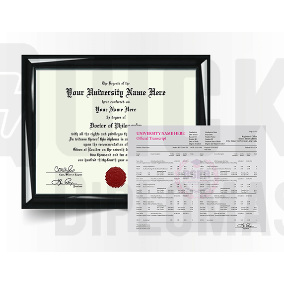 Doctorate PhD Degree Diploma with Transcript