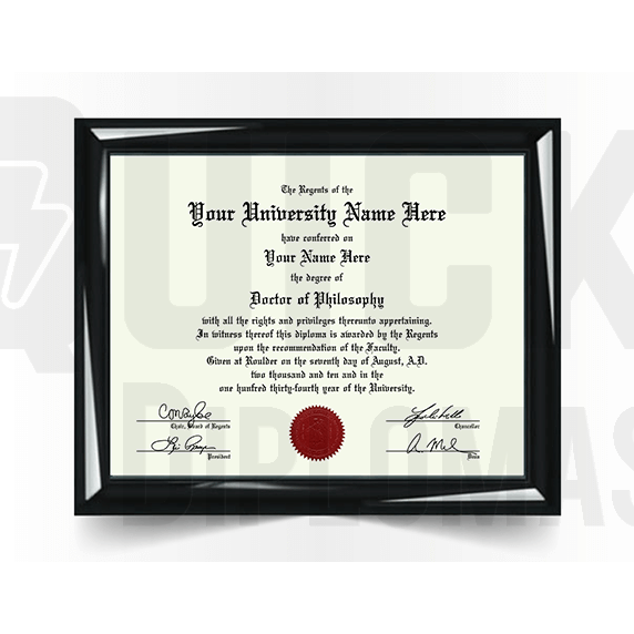 Doctorate PhD Degree Diploma