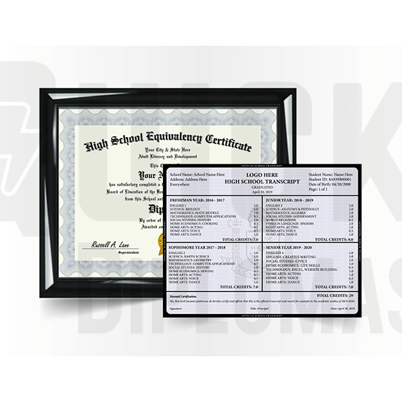 GED Diploma Match with Transcript