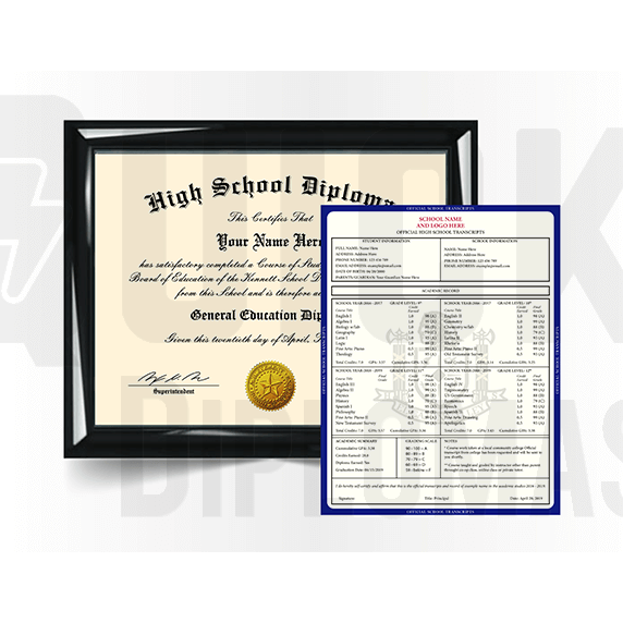 High School Diploma Match with Transcript