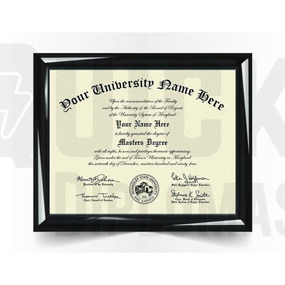 Master Degree Diploma