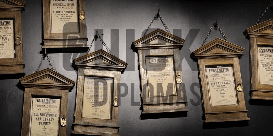 Realistic Diploma Props for Film & Stage